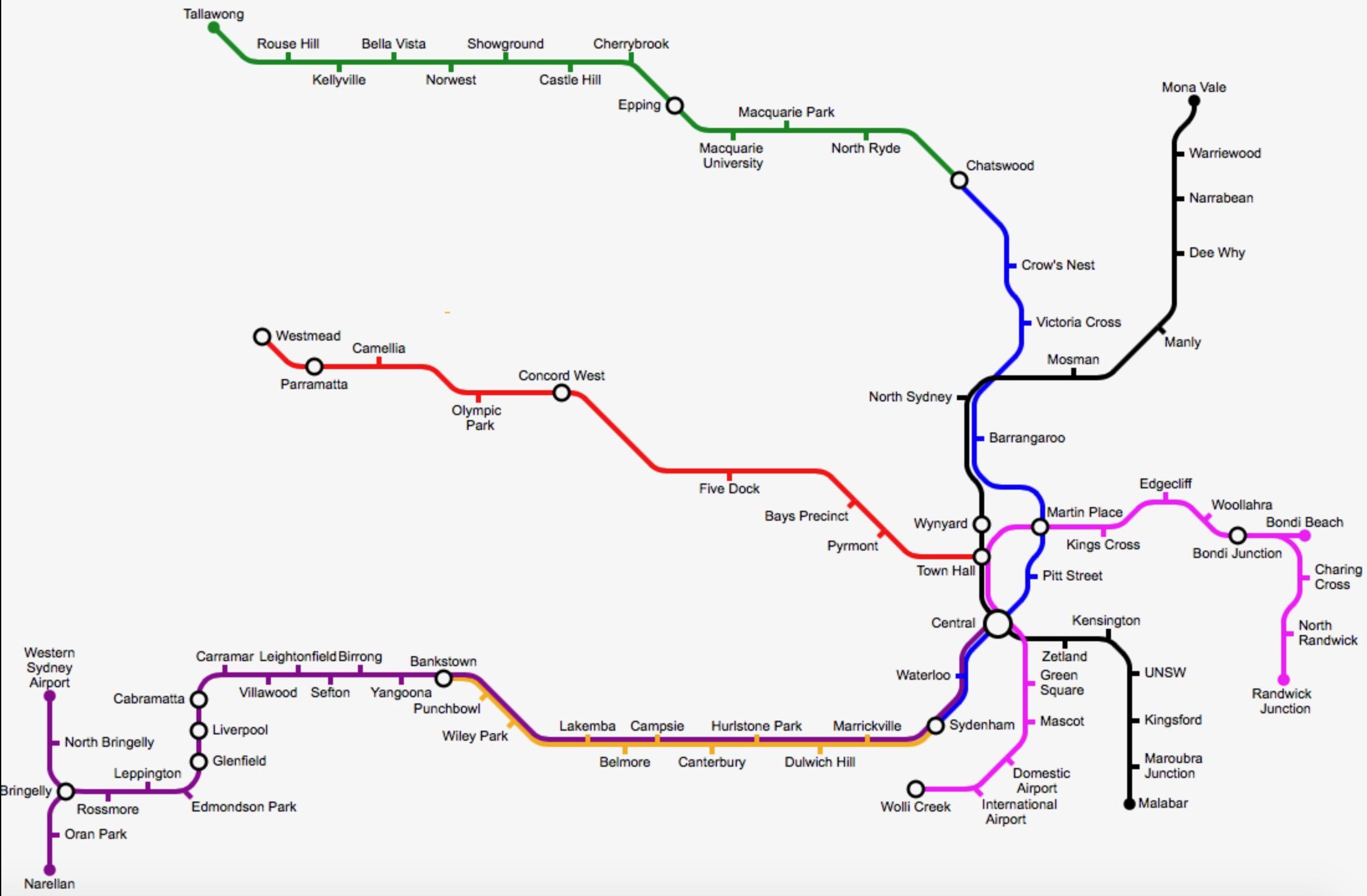 Transport Besides Sydney Metro Map On Navigation Light Diagram